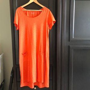 Eileen Fisher Hemp/cotton blend shift dress